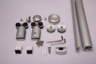 Система за плъзг. стъкла Космос 2.1м алум 90кг.