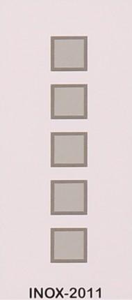 PND - 2011 INOX - бял с 5 стъкла квадрати